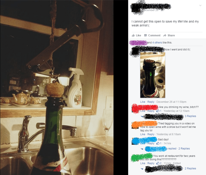 champagne FAIL facebook cork wine
