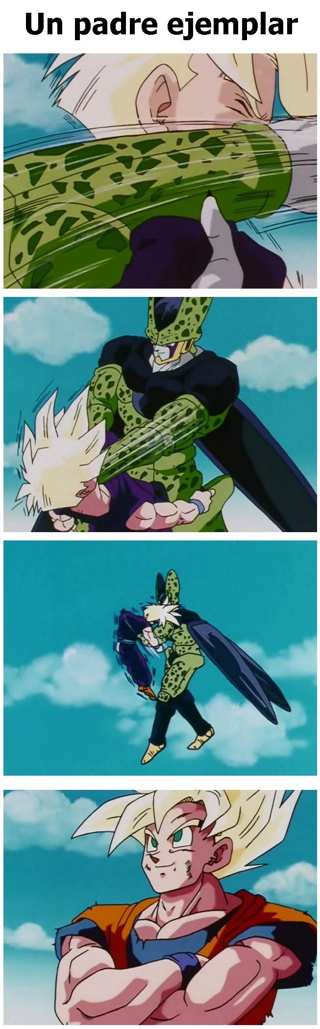 goku ejemplo de padre