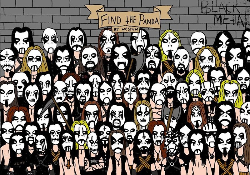find the panda death metal