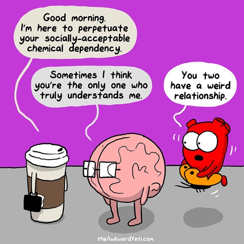 web comics coffee and brain