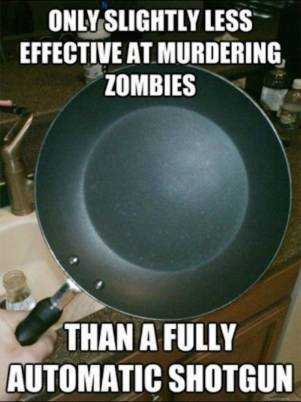 video game memes frying pan zombies