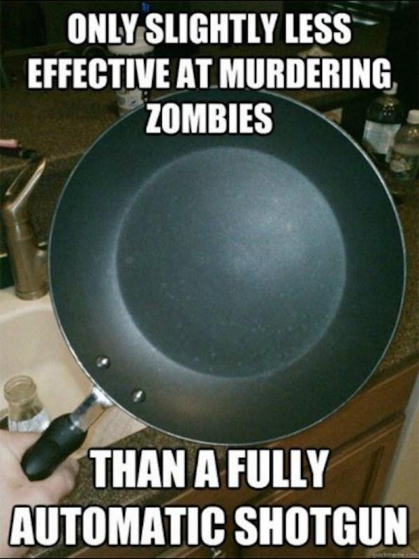 video game memes frying pan zombies