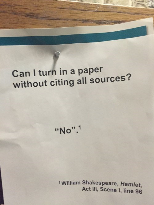 funny memes turn in paper without citing sources