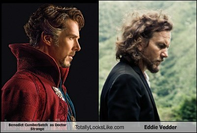 Benedict Cumberbatch  as Doctor Strange Totally Looks Like Eddie Vedder