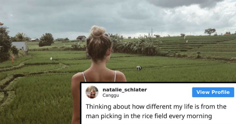 Instagram model compares herself to rice farmer