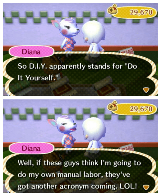 video game memes animal crossing diy