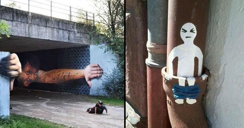graffiti that uses its environment