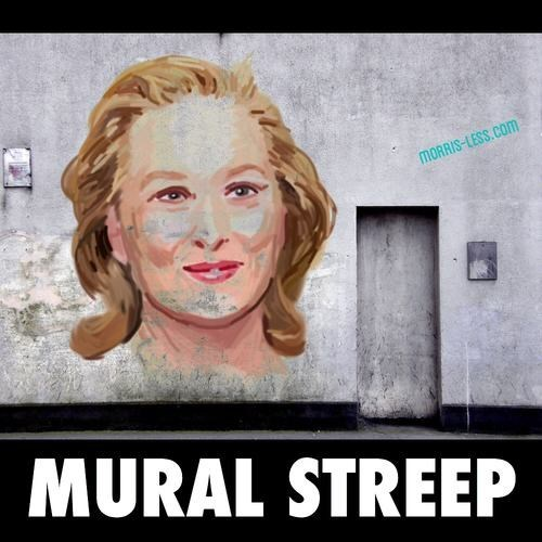Face - MORRIS-LESS.COm MURAL STREEP