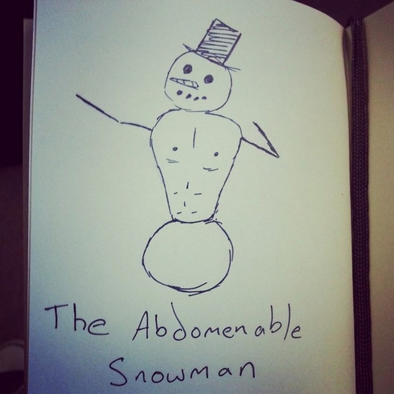 Drawing - The Abbomenable Snowman