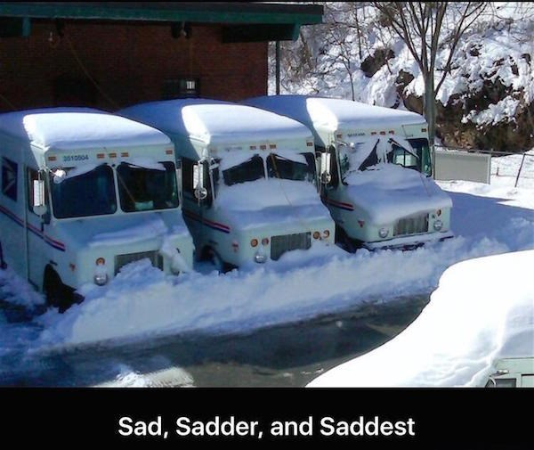 funny memes sad post office trucks