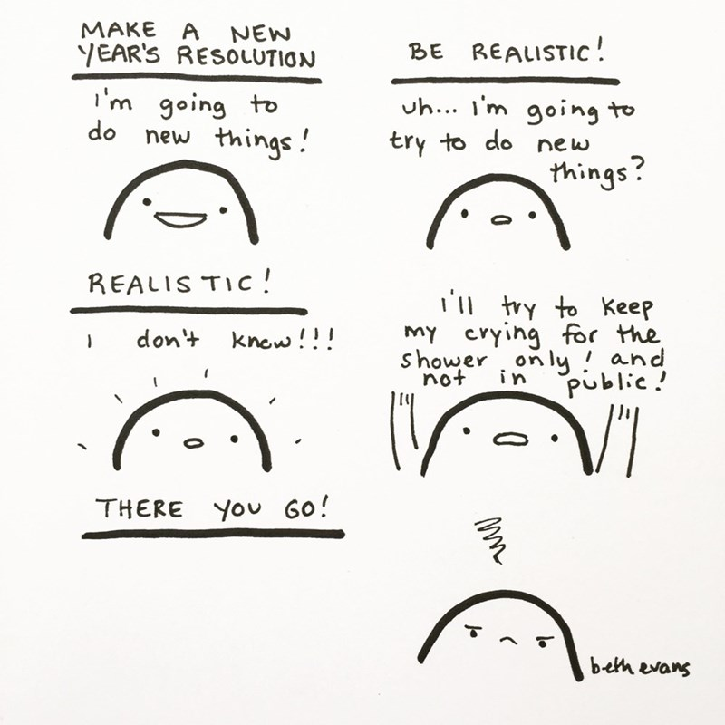 web comics new years resolutions