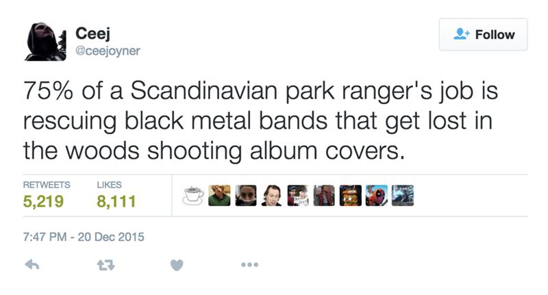 Scandinavian park ranger's job