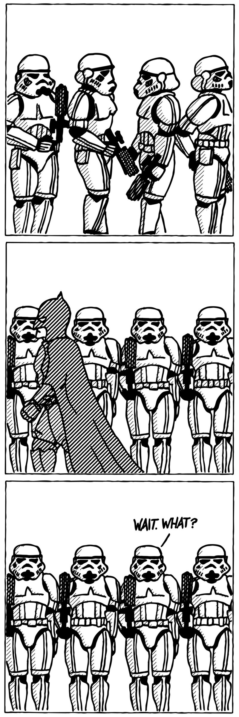 star wars Fan Art batman web comics - 8600381696