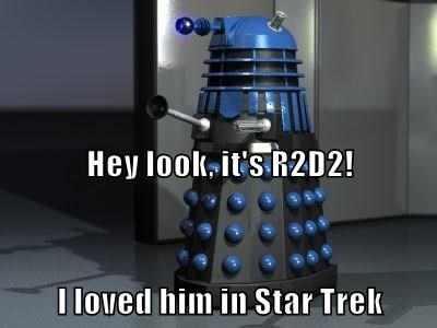 Hey look, it's R2D2! I loved him in Star Trek