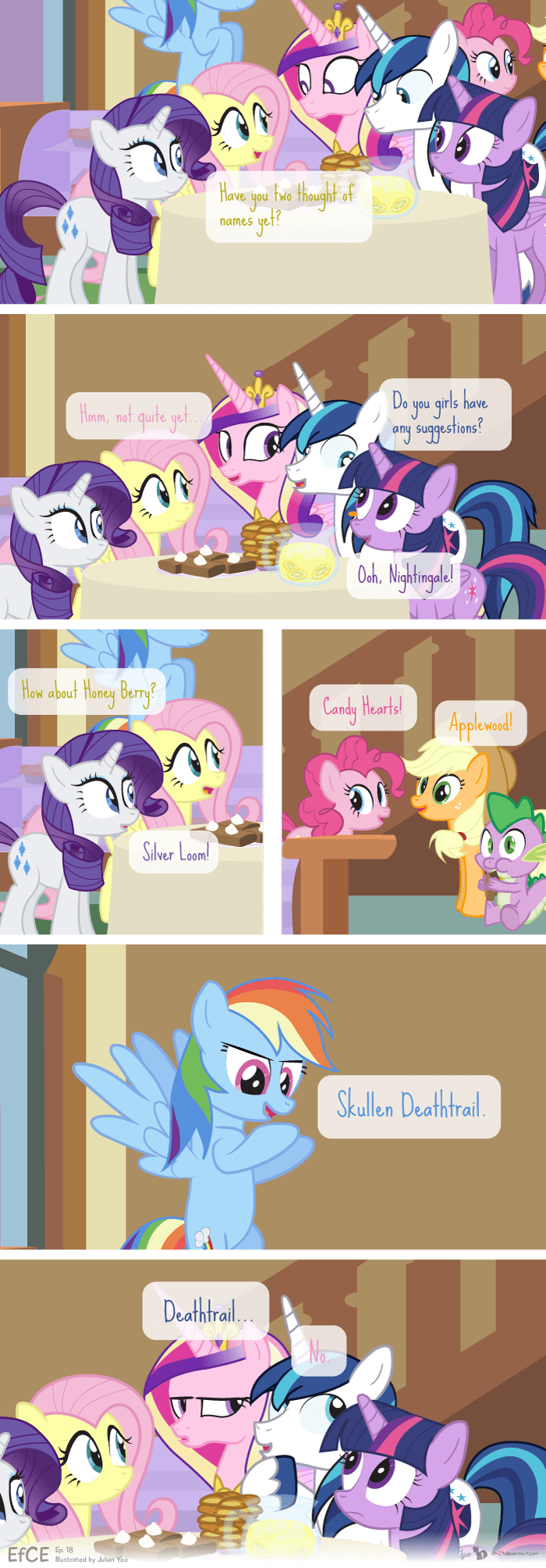 applejack,baby names,princess cadence,twilight sparkle,shining armor,pinkie pie,rarity,fluttershy,rainbow dash