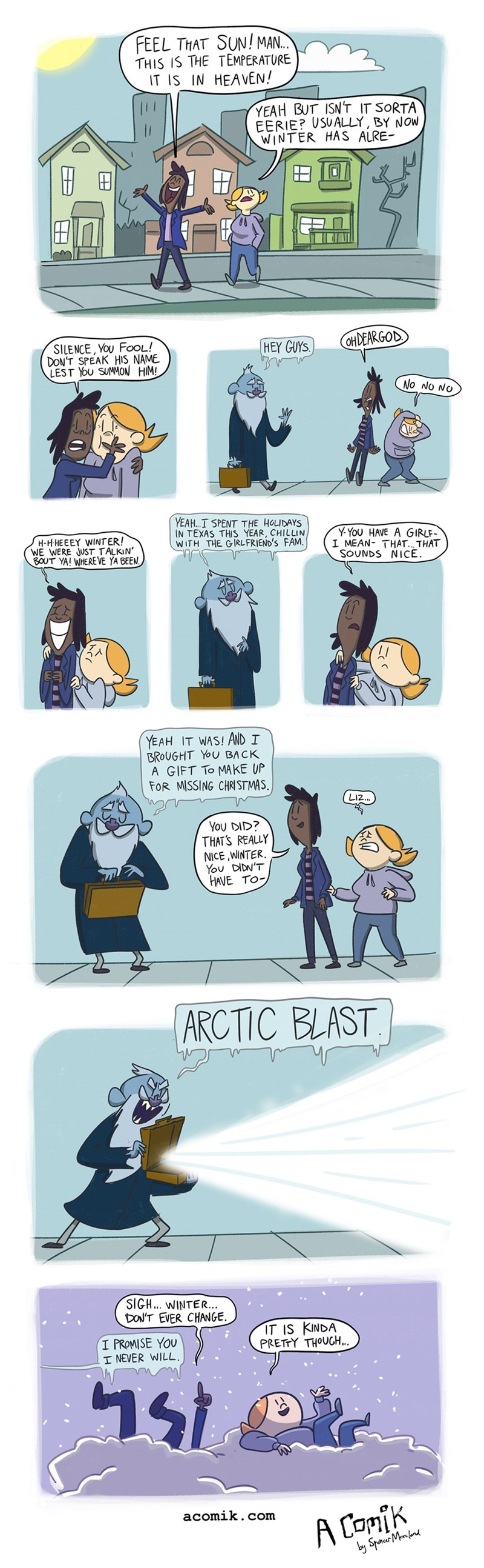 winter web comics