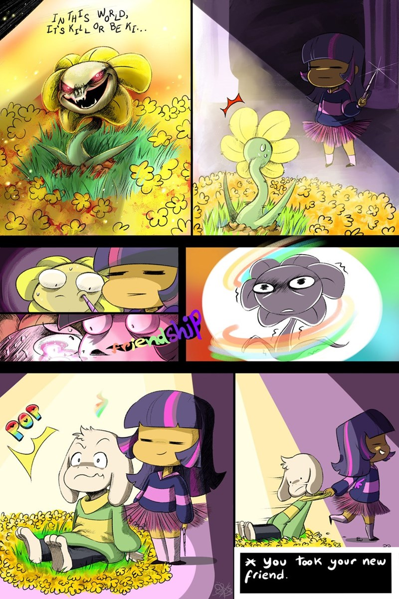 friendship,flowey,twilight sparkle,undertale,asriel