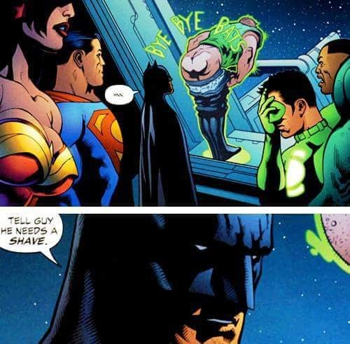 batman tell guy he needs a shave