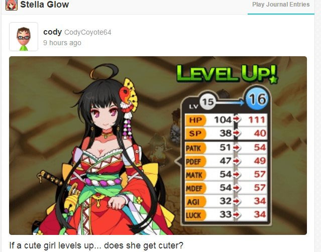 cute,girls,level up,Miiverse