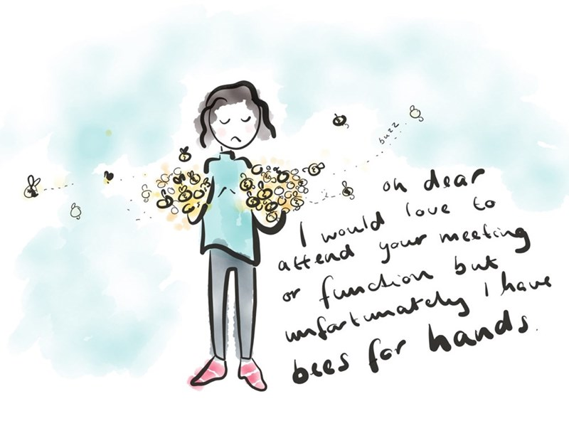 bees,hands,web comics
