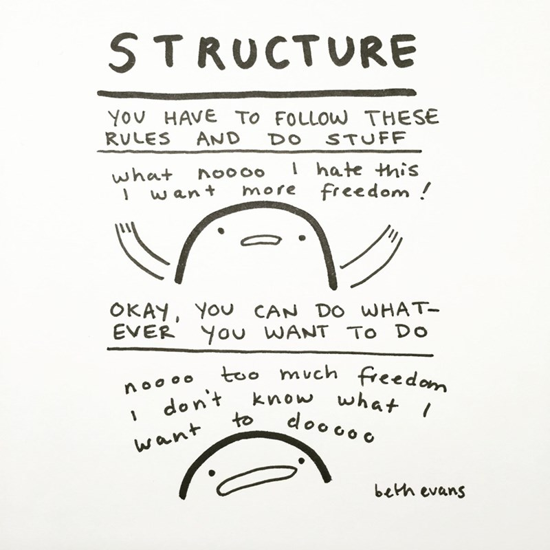 web comics structure vs freedom