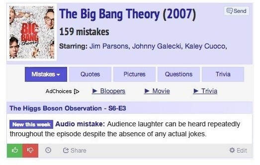 big bang theory laughter gaffe