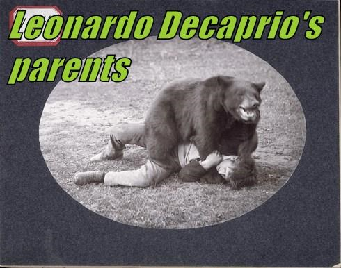 Leonardo Decaprio's parents