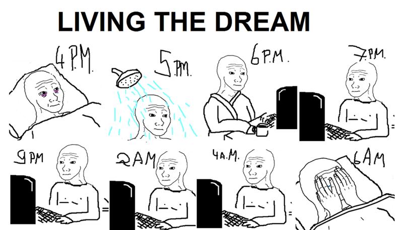 funny memes living the dream