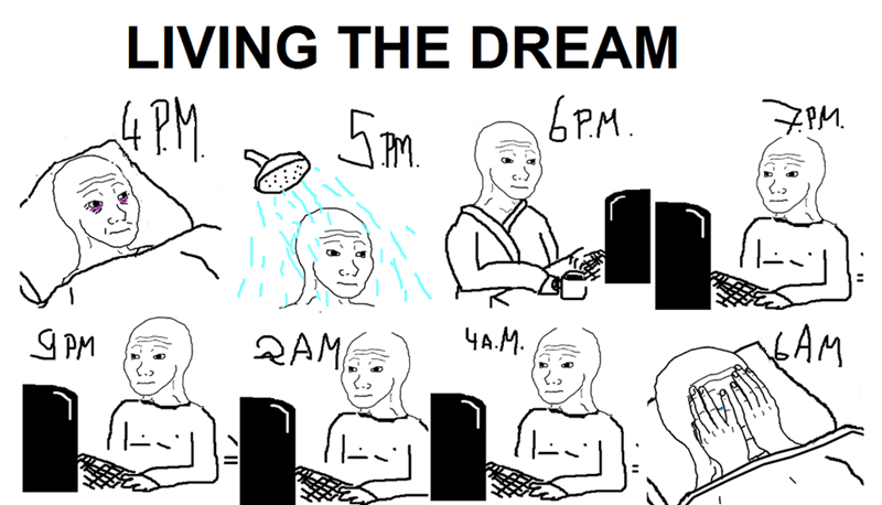 funny memes living the dream