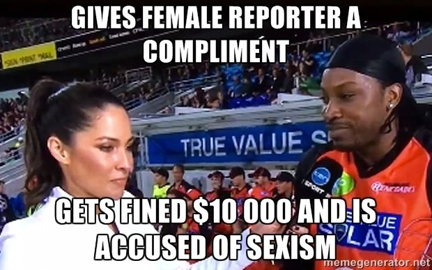 sexism compliment sports fine - 8601544448
