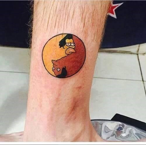tattoos,cartoons,the simpsons