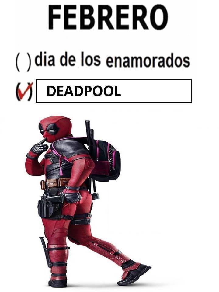 febrero mes de deadpool
