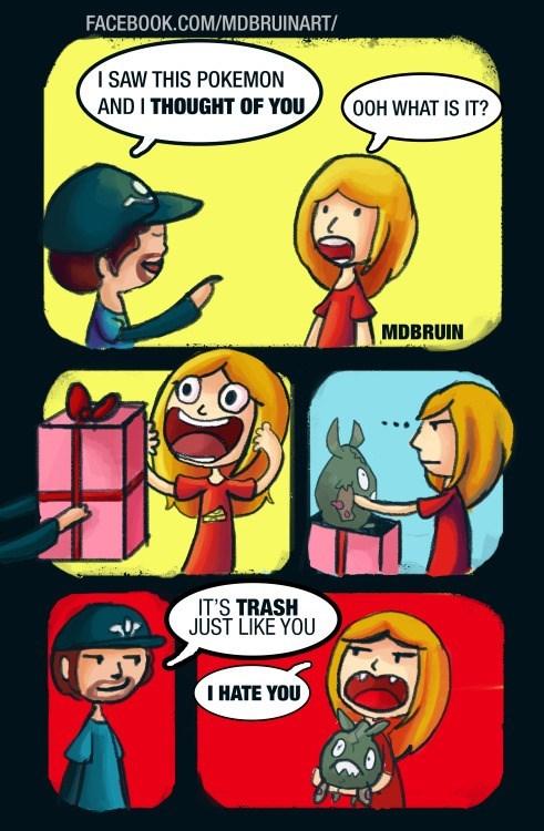 pokemon memes trubbish trash like you