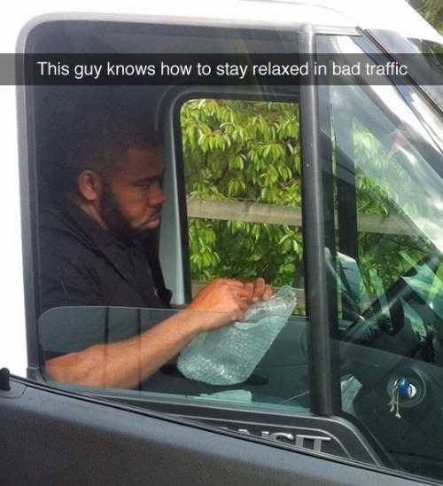 bubble wrap in traffic