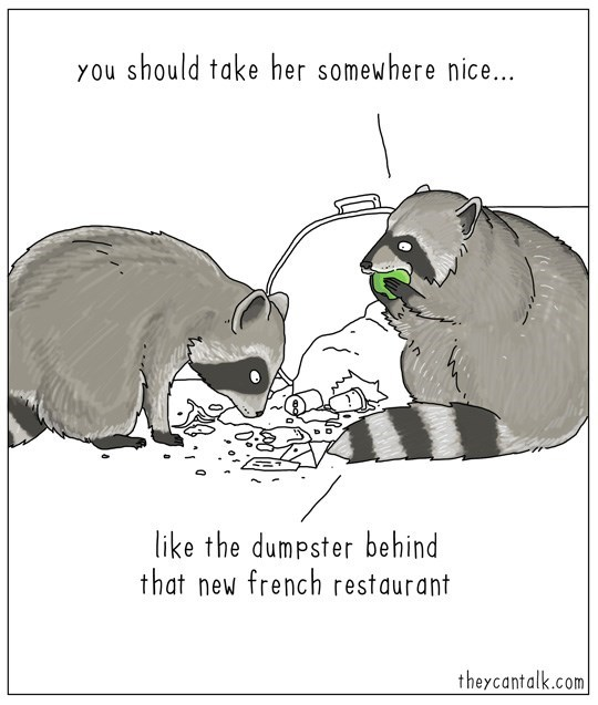 raccoons dating somewhere nice web comic