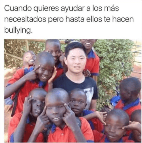 te hacen bullying