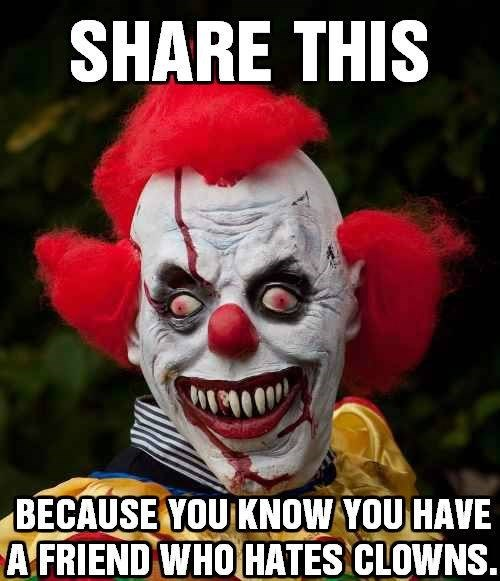 share this clown fear