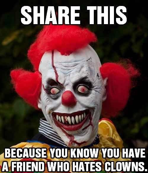 share this clown fear