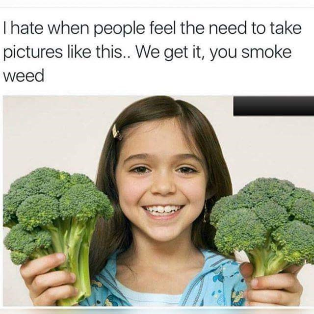 we get it you smoke broccoli