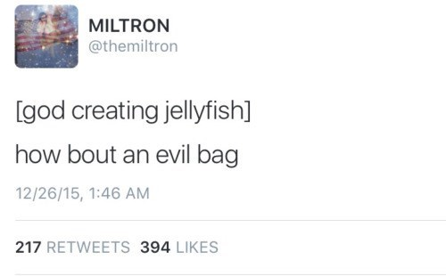 funny animal tweet about jellyfish being evil