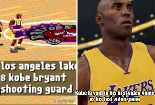 kobe bryant first vs last game