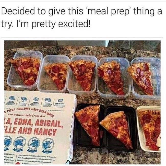 decided to try meal prep pizza