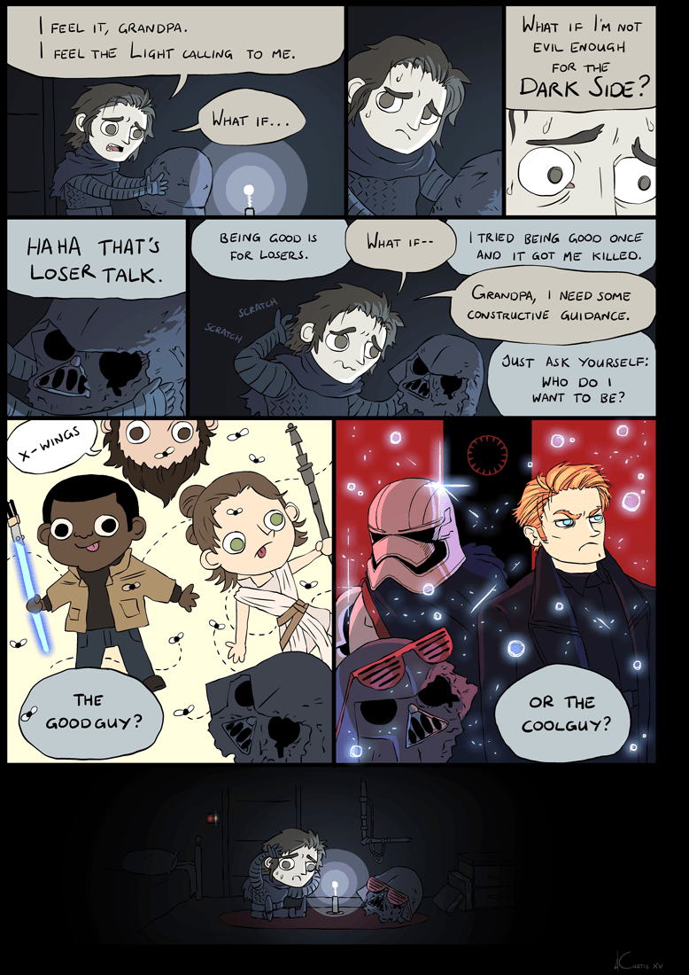 web comics kylo ren cool guy or good guy