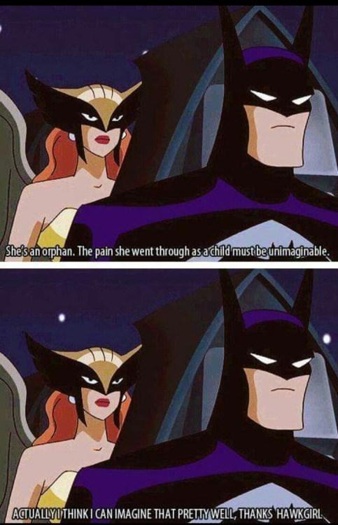 awkward hawkgirl batman
