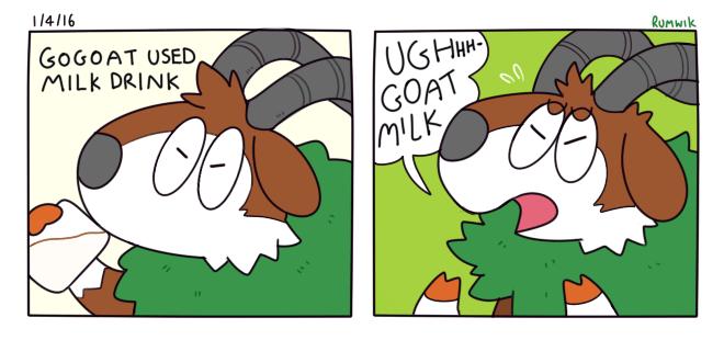 pokemon memes gogoat milk drink