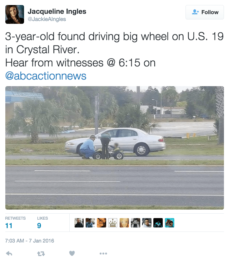 funny fail news kid drives power wheels on florida highway