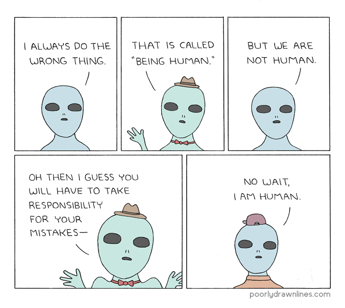 being human alien comic