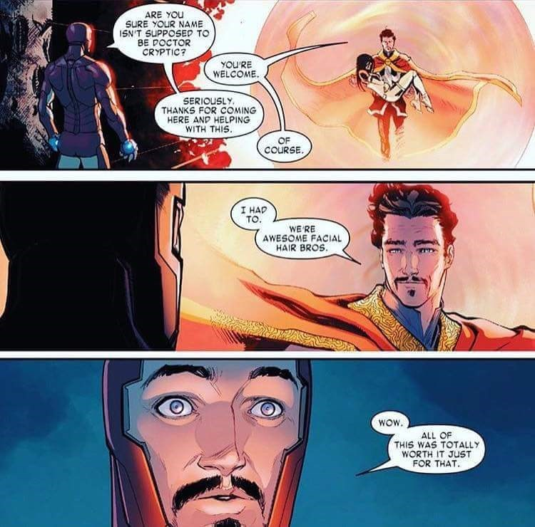 doctor strange awesome facial hair bros