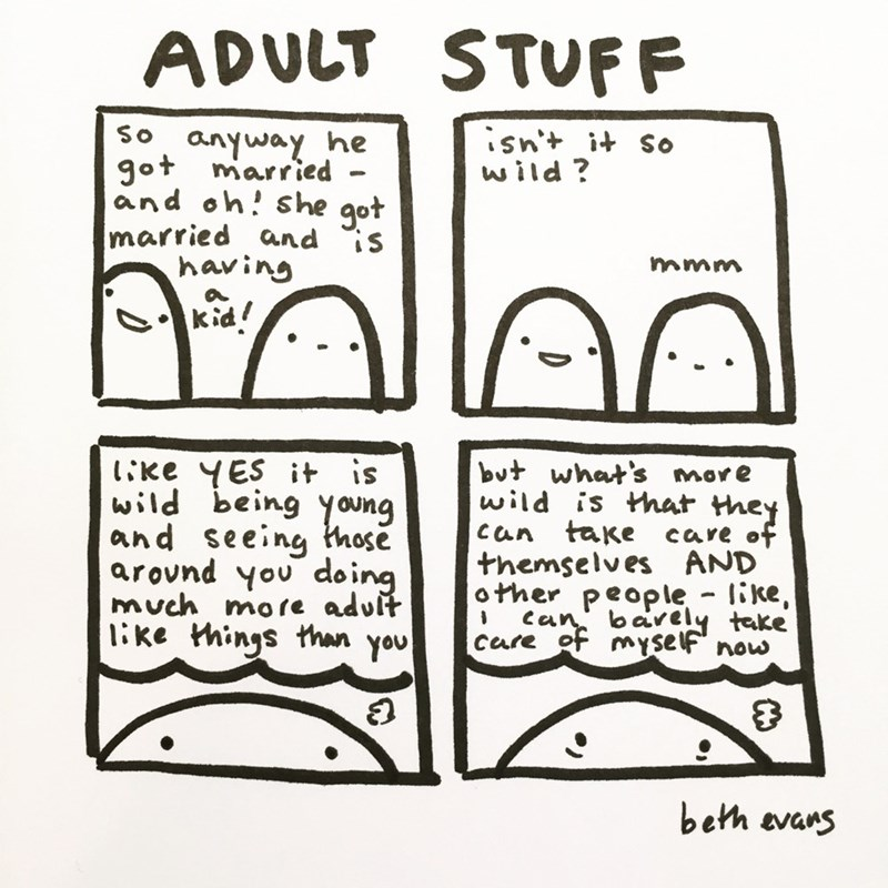 web comics adult stuff caring for a kid