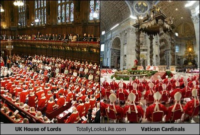 UK House of Lords Totally Looks Like Vatican Cardinals